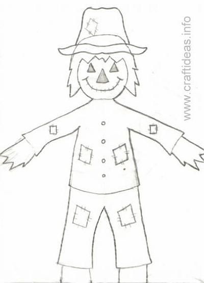 Scarecrow Craft Pattern