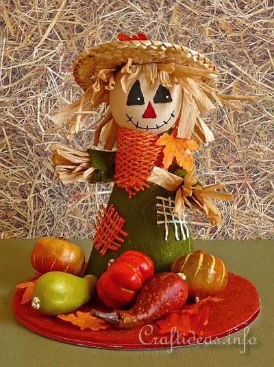 Fall Craft Or Autumn Craft Scarecrow Table Decoration