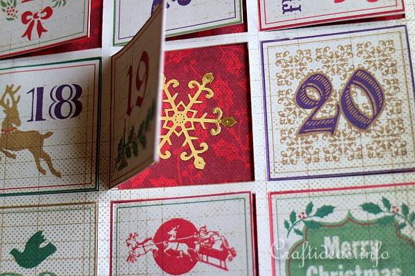 Scrapbook Paper Advent Calendar 2