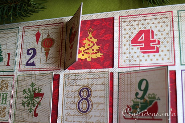 Scrapbook Paper Advent Calendar 3