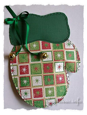 Scrapbook Paper Mitten Decoration or Tree Ornament