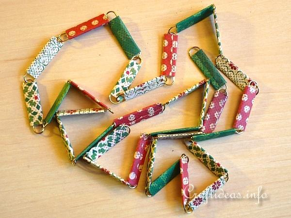 Scrapbook Paper and Paper Clip Tree Garland 2