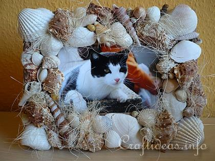 Seashell Craft - Seashell Picture Frame