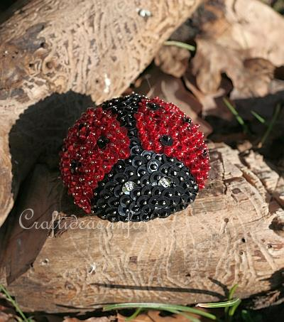 Sequins and Beads Lady Bug 1
