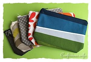 Sew Easy Zipper Pouches for All Purposes