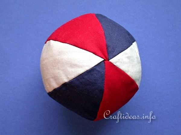 Free Craft Project Sew A Baby Ball Using Fabric Scraps
