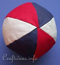 Sewing Craft - How to Make a Fabric Baby Ball