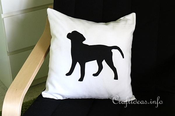 Sewing Project - Black Labrador Pillow