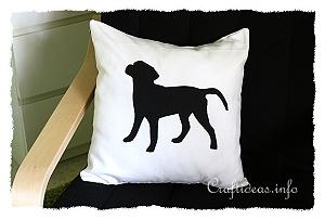 Sewing Project - Black Labrador Pillow Case