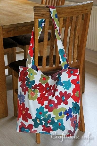 Sewing Project - Easy Lined Fabric Tote