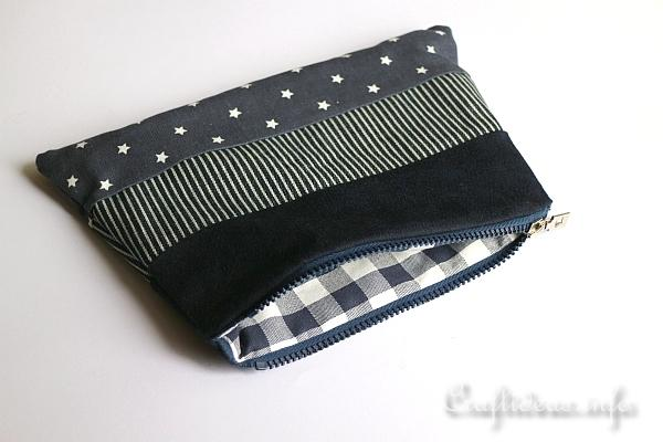 Sewing Project - Fabric Zipper Pouch