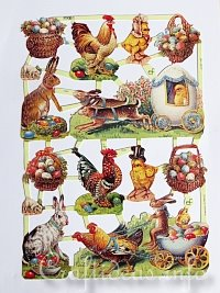 Sheet of Vintage Easter Motifs