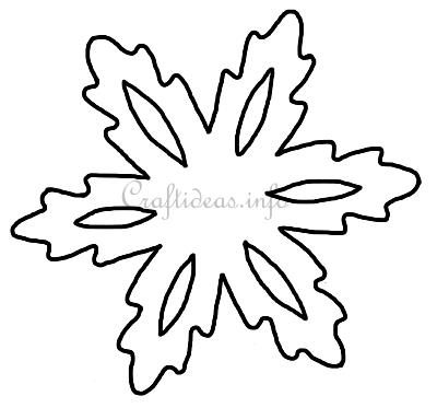 Print Out This Snowflake For Your Christmas And Winter Craft Projects