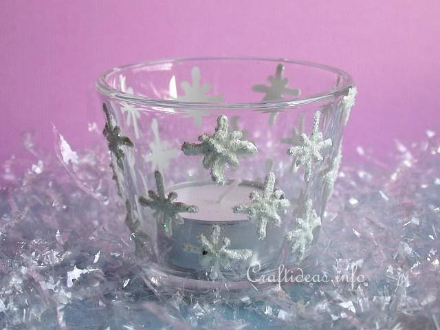 Snowflakes Tea-Light Glass