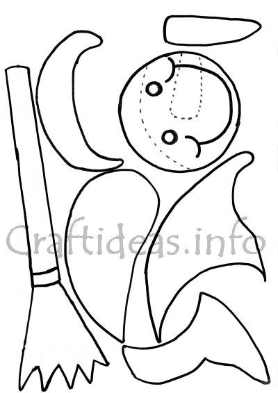 Templates For Paper Pieced Snowman Window Or Room Decoration