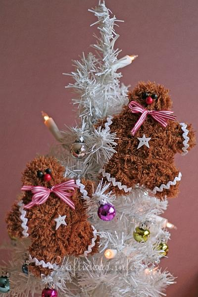 Soft and Fuzzy Gingerbread Man Ornaments 1