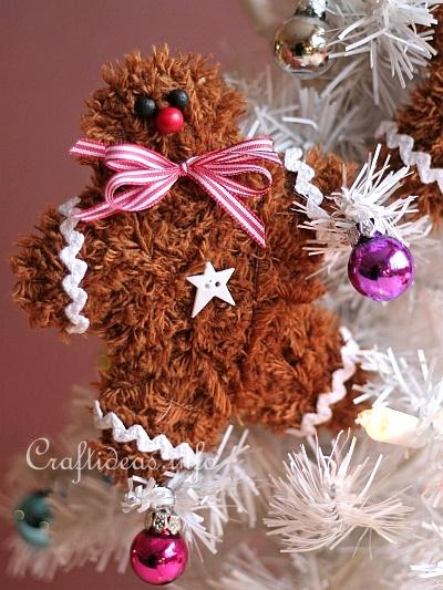 Soft and Fuzzy Gingerbread Man Ornaments 3