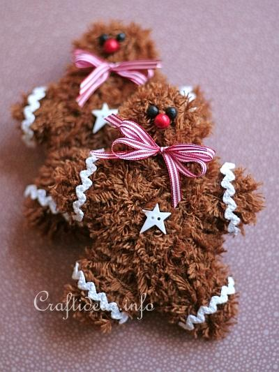 Soft and Fuzzy Gingerbread Man Ornaments 4
