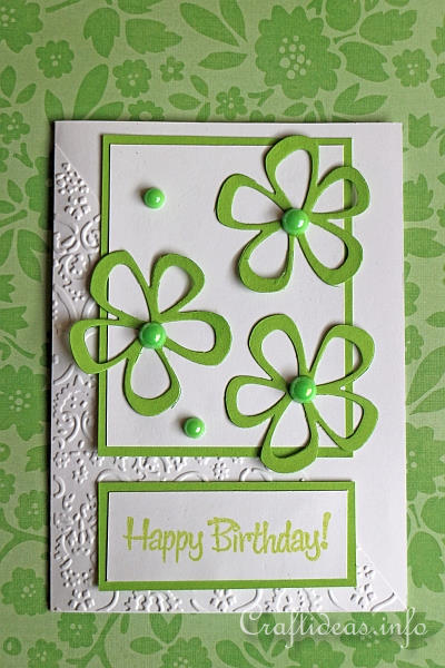 Spring Craft Project Fresh Spring Birthday Card