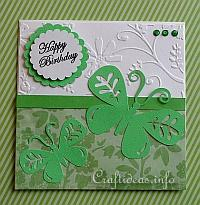 Spring Card - Cheery Green Greeting Card