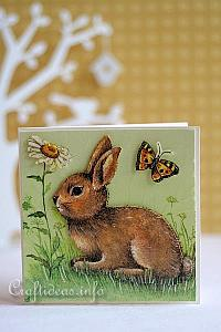 Spring Cards - Card with Daisies and Butterflies