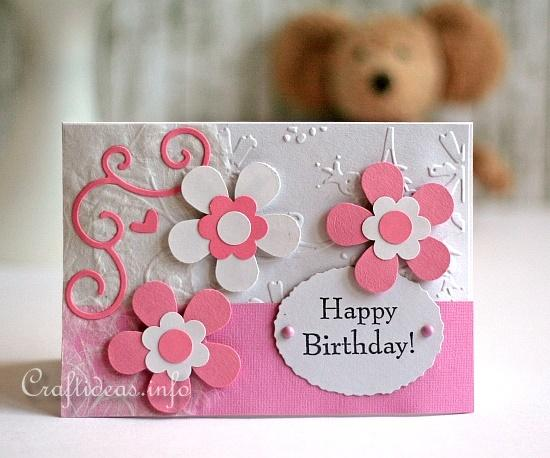 Free Card Craft Ideas Friendship Card With Flowers