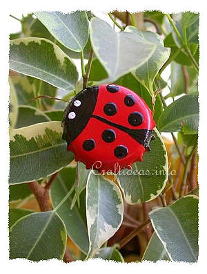 Spring Craft - Bottle Cap Lady Bug