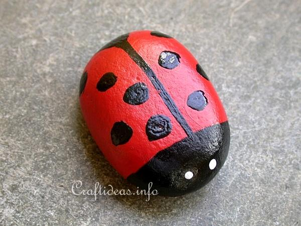 Spring Craft - Rock Lady Bug