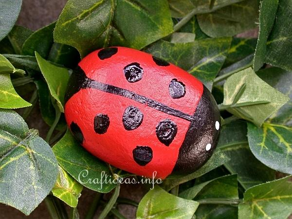 Spring Craft - Rock Lady Bug 2