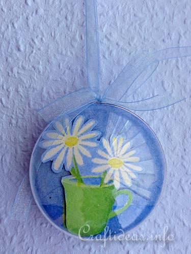 Free Spring And Easter Craft Project 3 D Acrylic Ball