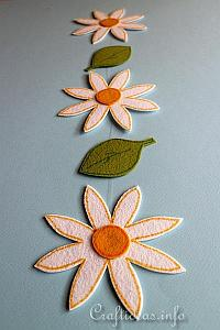 Spring Craft Project - Felt Daisy and Leaf Garland