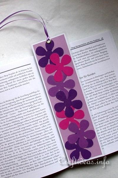 Easy Spring Paper Crafts For Kids Flower Power Bookmark