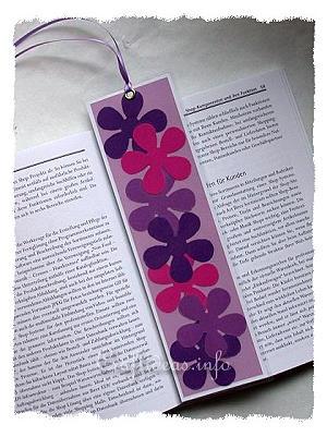 Easy Spring Paper Crafts For Kids Flower Power Bookmark