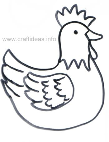 Free Spring And Easter Craft Patterns Sitting Hen Pattern