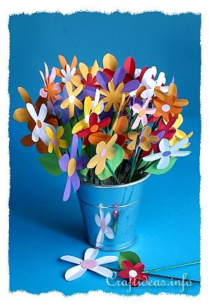 coloured paper craft ideas s day craft for paper flower bouquet 3679
