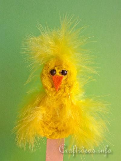Spring and Easter Craft - Chenille Chick