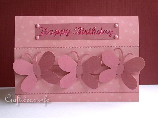 Paper And Card Craft Spring Butterfly Birthday Card