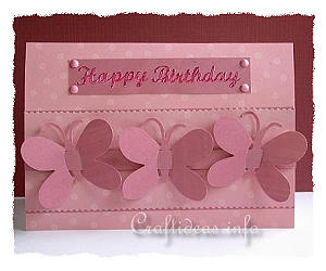 Spring or Birthday Card with Butterflies