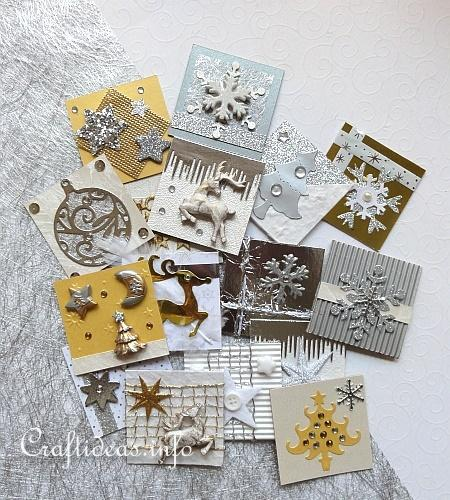 Square Embellishments for Cards