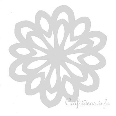 Christmas Craft Template  Stained Glass Snowflake Template