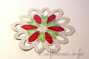 Stained Glass Snowflakes Tutorial 11