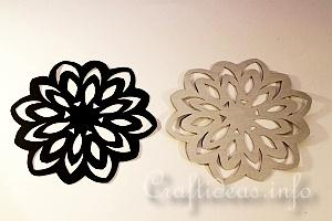 Stained Glass Snowflakes Tutorial 4