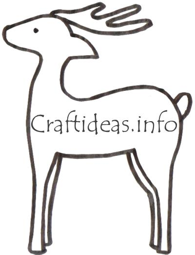 Craft Pattern for Christmas - Reindeer Template