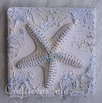 Plaster Of Paris Crafts Miniature Seashells And Starfish