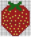 Strawberry Fuse Beads Pattern