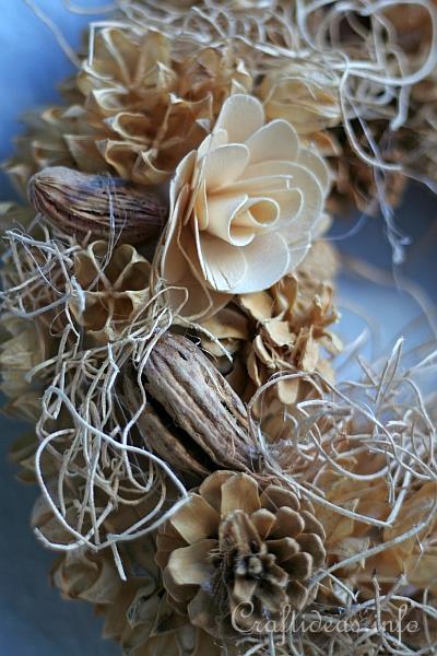 Floral Craft Create A Natural Wreath Using Potpourri