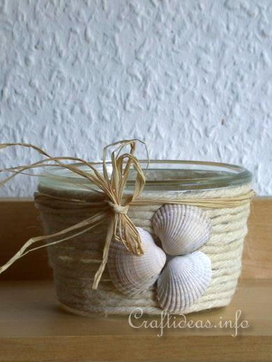Summer Craft - Maritime Craft - Seashell Votive Glass