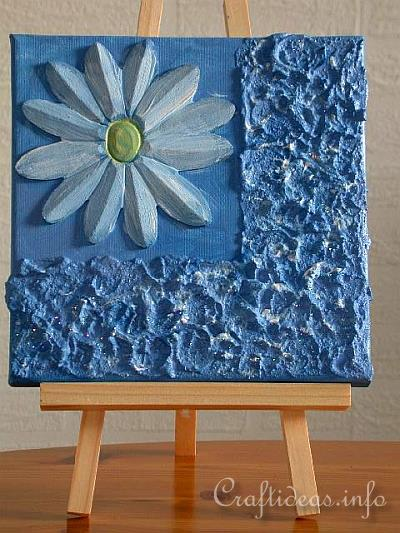 Summer Craft - Painting - Daisy Acrylic Picture