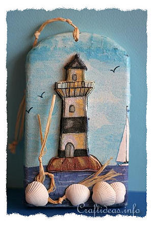 Summer Craft Project - 3-D Lighthouse Shindle - Maritime Craft
