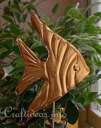 Summer Craft Project - Embossed Metal Angel Fish